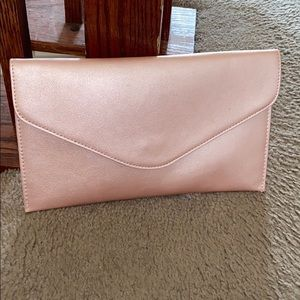 Forever21 Rose Gold Envelope Clutch